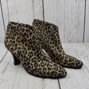 Thierry Ranotin Ankle Boots Leopard Print 36.5
